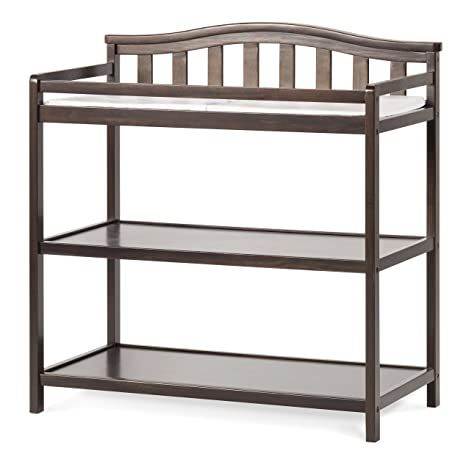 Child Craft Arched Top Changing Table With Pad Slate