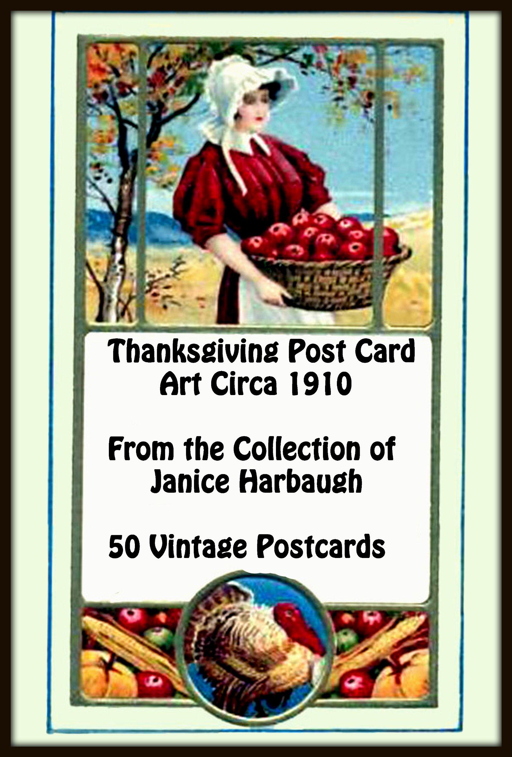 Thanksgiving Post Card Art Circa 1910  English Edition