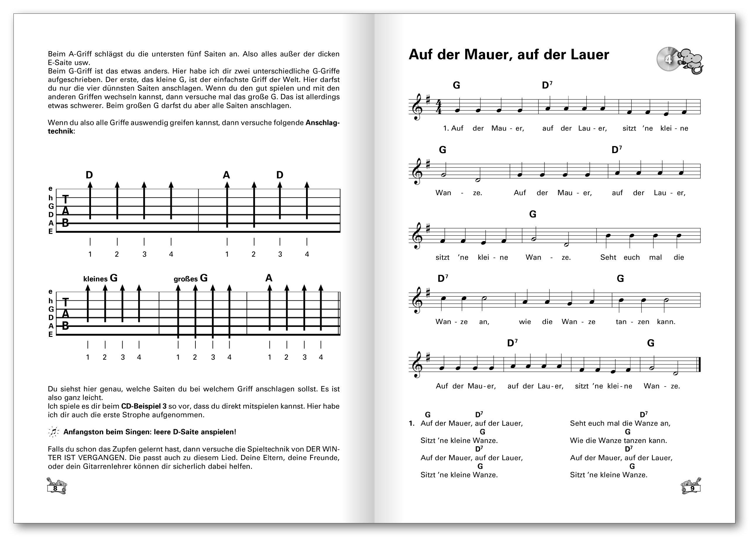 Liederbuch: mit Noten und Akkorden (German Edition)