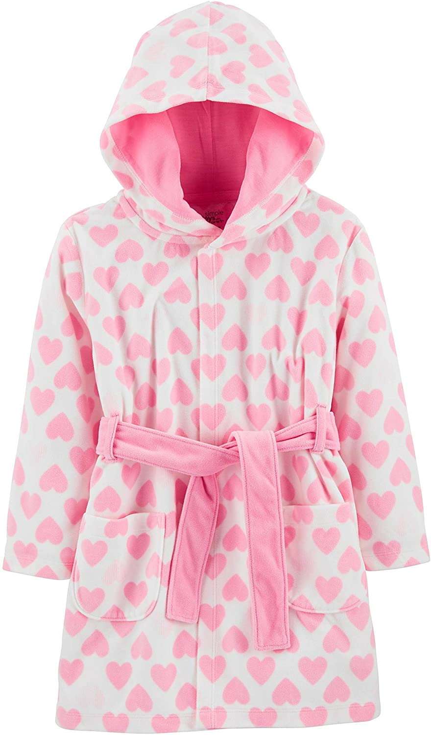 Simple Joys by Carter's Baby and Toddler Girls' Hooded Sleeper Robe: Clothing