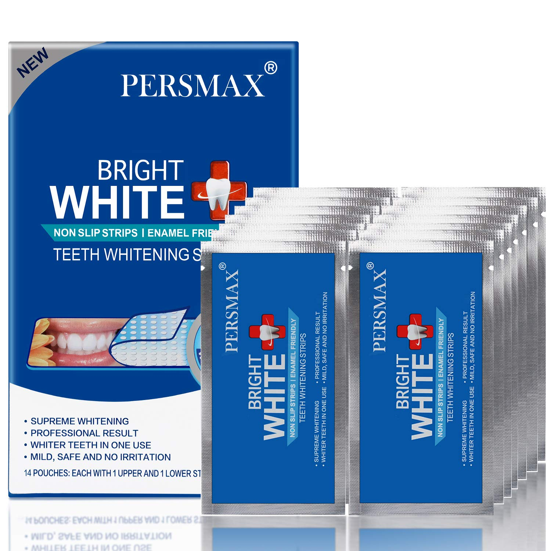 PERSMAX Teeth Whitening Strips, Non-Slip Dental Whitener Professional Effect Whitening Strips, 14 Treatments 28 Strips: Beauty
