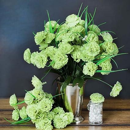 Amazon balsacircle 252 lime green mini silk carnations 12 balsacircle 252 lime green mini silk carnations 12 bushes artificial flowers wedding party centerpieces mightylinksfo