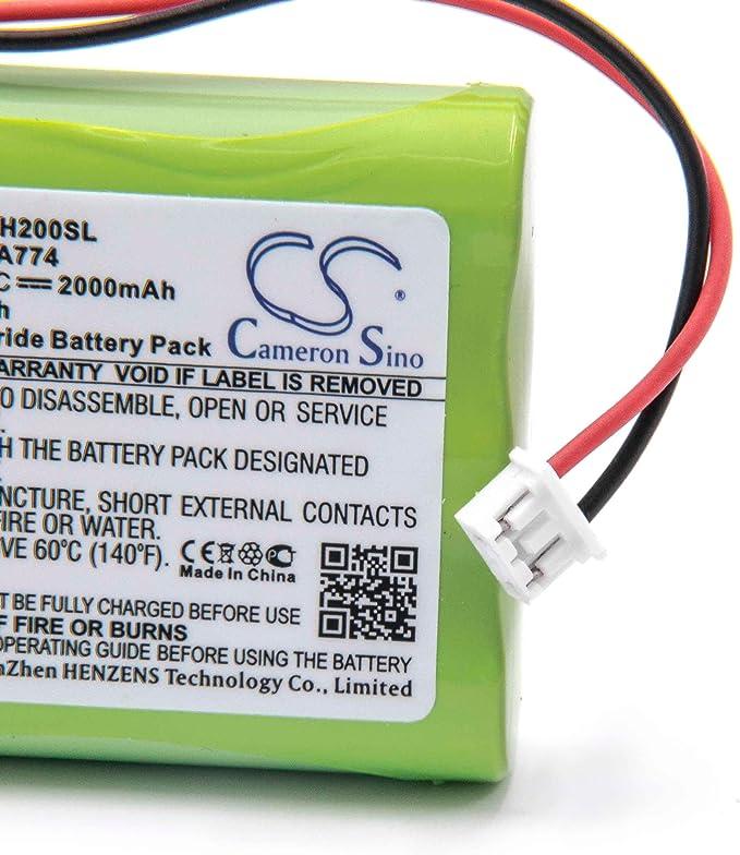 D760 D76 para robot aspidador dom/éstico Ecovacs Deebot D730 vhbw 2 x bater/ías NiMH 2000mAh D79 como LP43SC3300P5. D73n 6V D77
