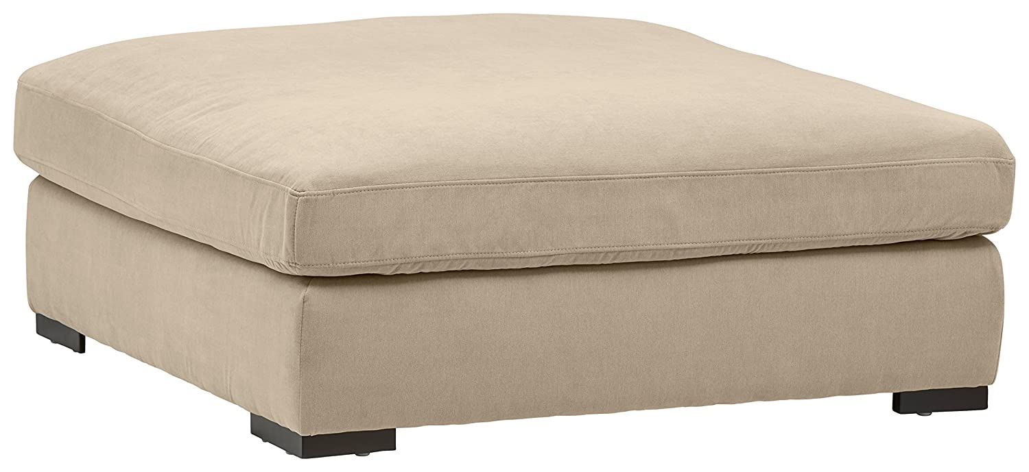 "Stone & Beam Lauren Down Filled, Oversized, Ottoman, 46.5"" W, Fawn"
