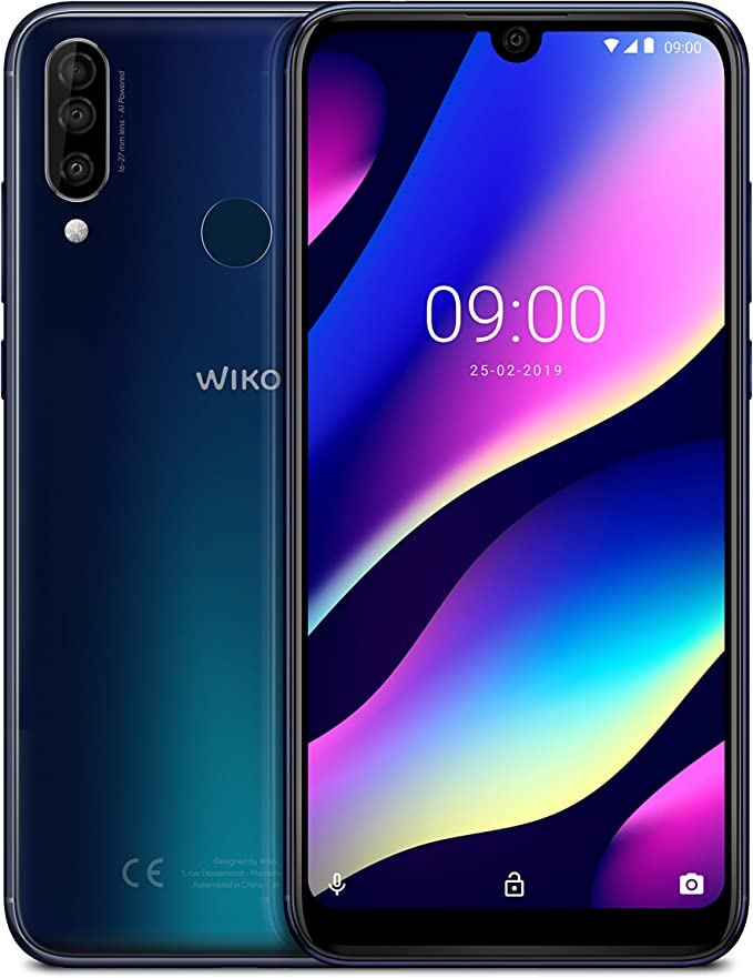 "WIKO View3 – Smartphone de 6,26"" HD+ IPS (Triple Cámara, 4000mAh para 2 días de autonomía,"