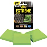 Post-it Extreme Notes, Water Resistant, Engineered for Tough Conditions, Made with Dura-Hold Paper and Adhesive, 3 Pads, Green