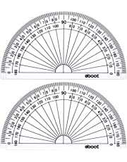 Plastic Protractor Math Protractors 180 Degrees, 4 Inch, Clear, Pack of 2