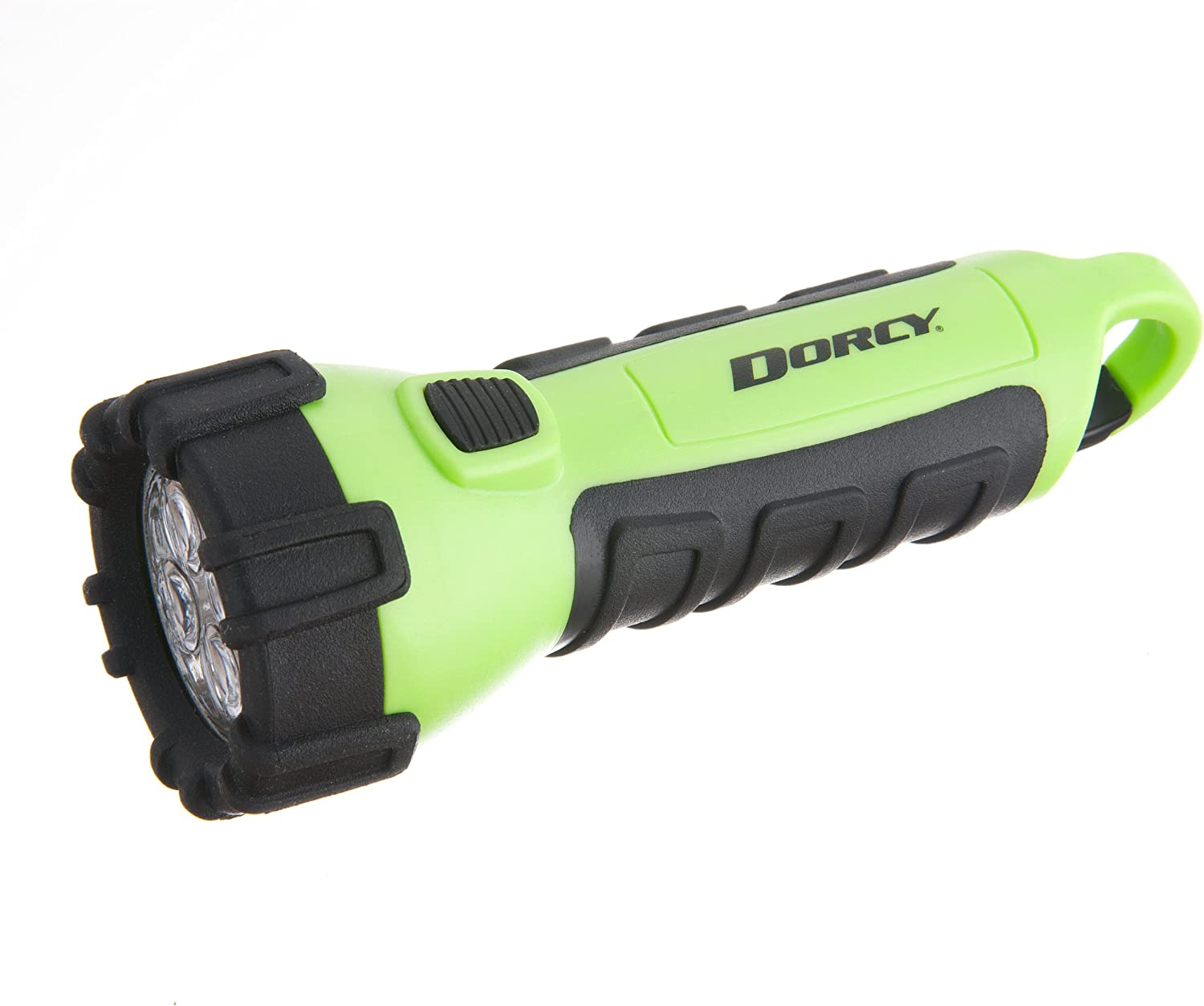 Dorcy 55 Lumen Floating Waterproof LED Flashlight with Carabineer Neon Green