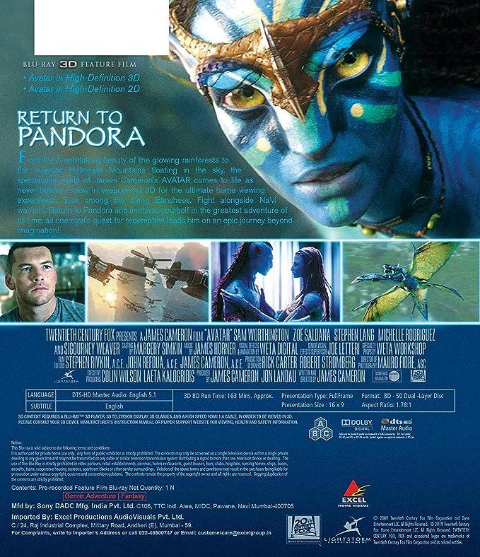 Amazon in: Buy Avatar (Blu-ray 3D & 2D in 1 Disc) DVD, Blu-ray