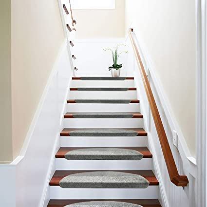 Comme Rug Non Slip Bullnose Carpet Stair Treads Stair Rugs Step Treads  Stair Pads Stair Covers,Non Skid Self Adhesive with Stair Nosing for Wood