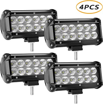 Amazon Com Led Light Bar 4 X 36w 3600 Lumens Yeego Cree Led Flood Lights For Off Road Rv Atv Suv Boat Truck Suv Atv Tractor Pickup Lighting 2 Years Warranty 4pack 36w Flood Light
