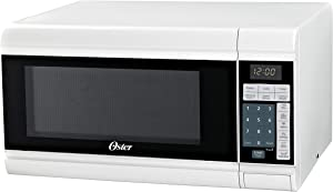 Oster OGCMT309WE-09 Compact-Size 0.9-Cu. Ft. 900W Countertop Microwave Oven, White