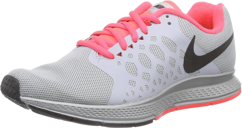 Nike Women s Zoom Pegasus 31 Flash RFLCT Slvr Blk WLF Gry Hypr Pn Running Shoe
