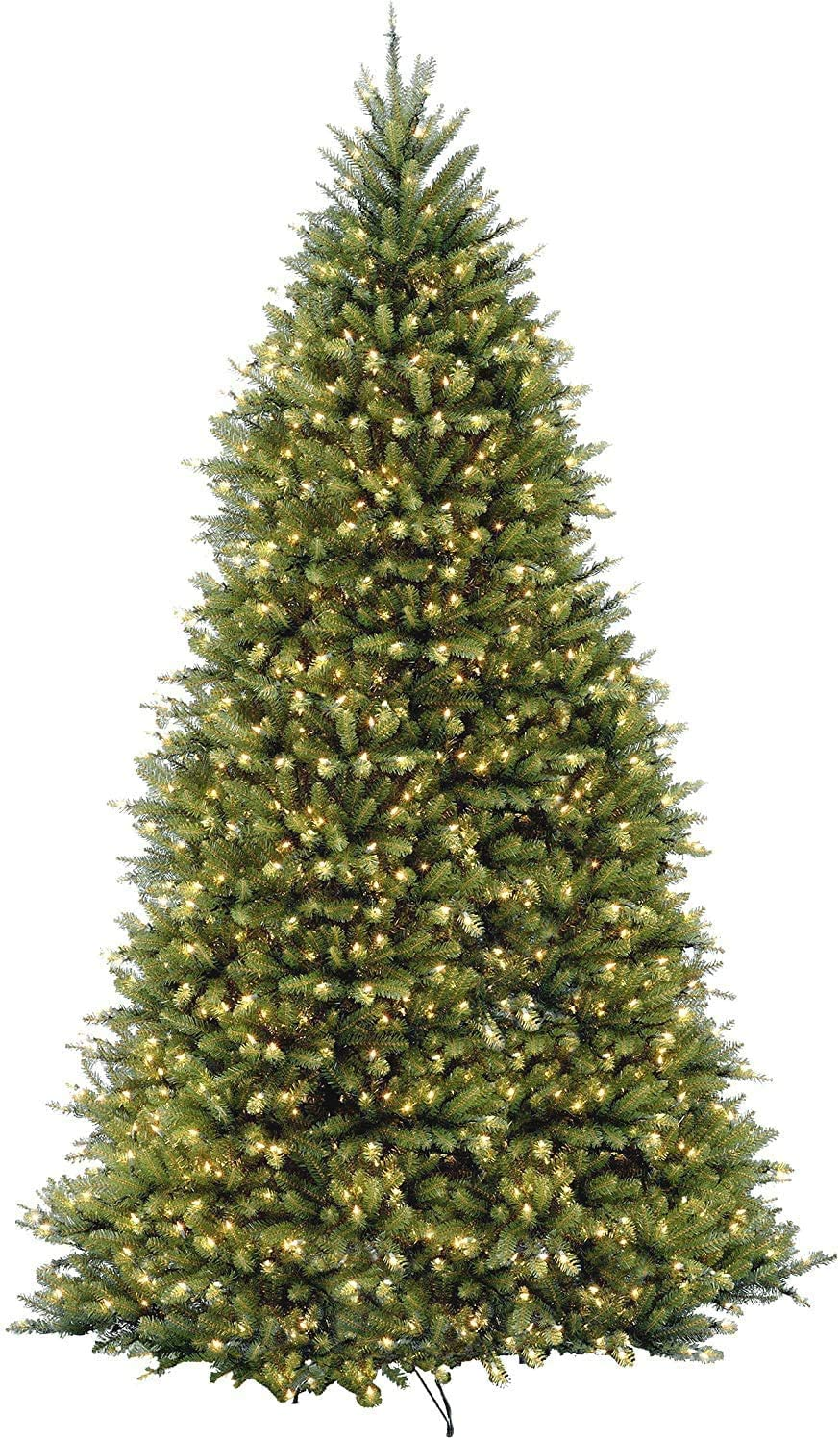 National Tree Company Pre-lit Artificial Christmas Tree | Includes Pre-strung White Lights and Stand | Dunhill Fir - 12 ft