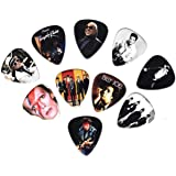 Top Pop Icons Guitar Picks ft Prince, David Bowie & MJ (10 in a pack)