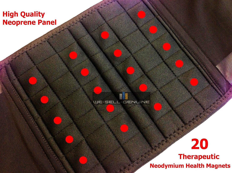 Ceinture magnétique lombaire en néoprène avec 20 aimants - Double traction  - Soulage les douleurs dans le bas du dos (disponible en 8 tailles  61 -  162,5 ... a2d3a14cf3d