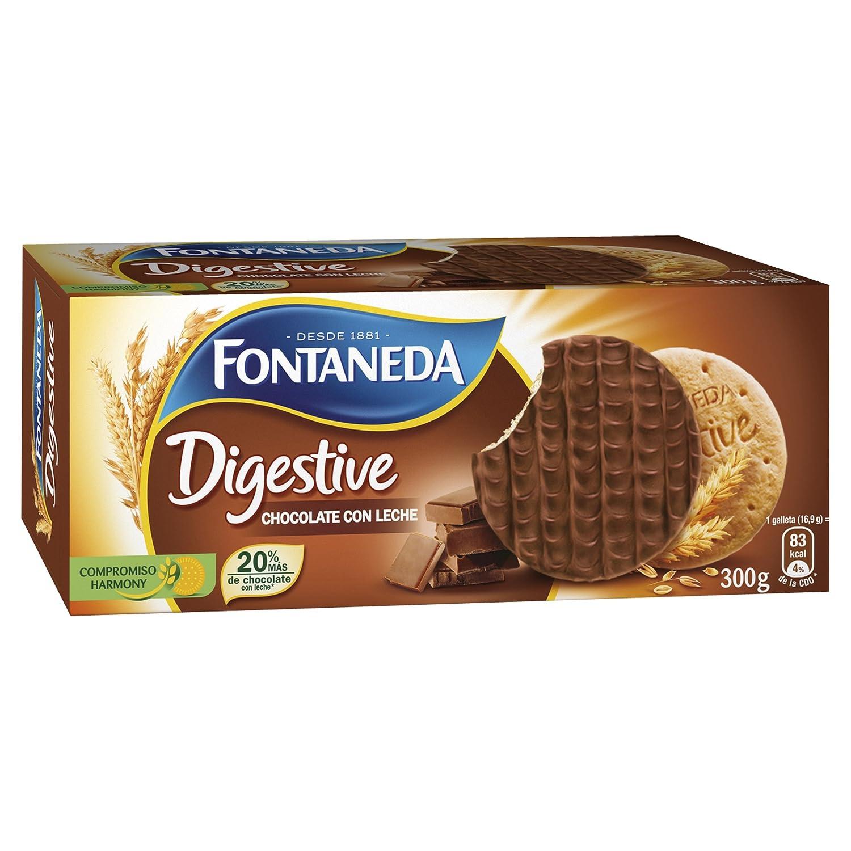 Fontaneda Digestive Galletas Cubiertas de Chocolate con ...