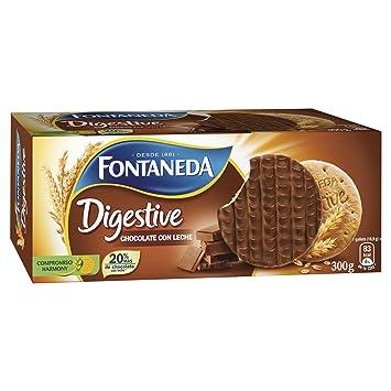 Fontaneda Digestive Galletas Cubiertas de Chocolate con Leche - 300 g: Amazon.es: Amazon Pantry