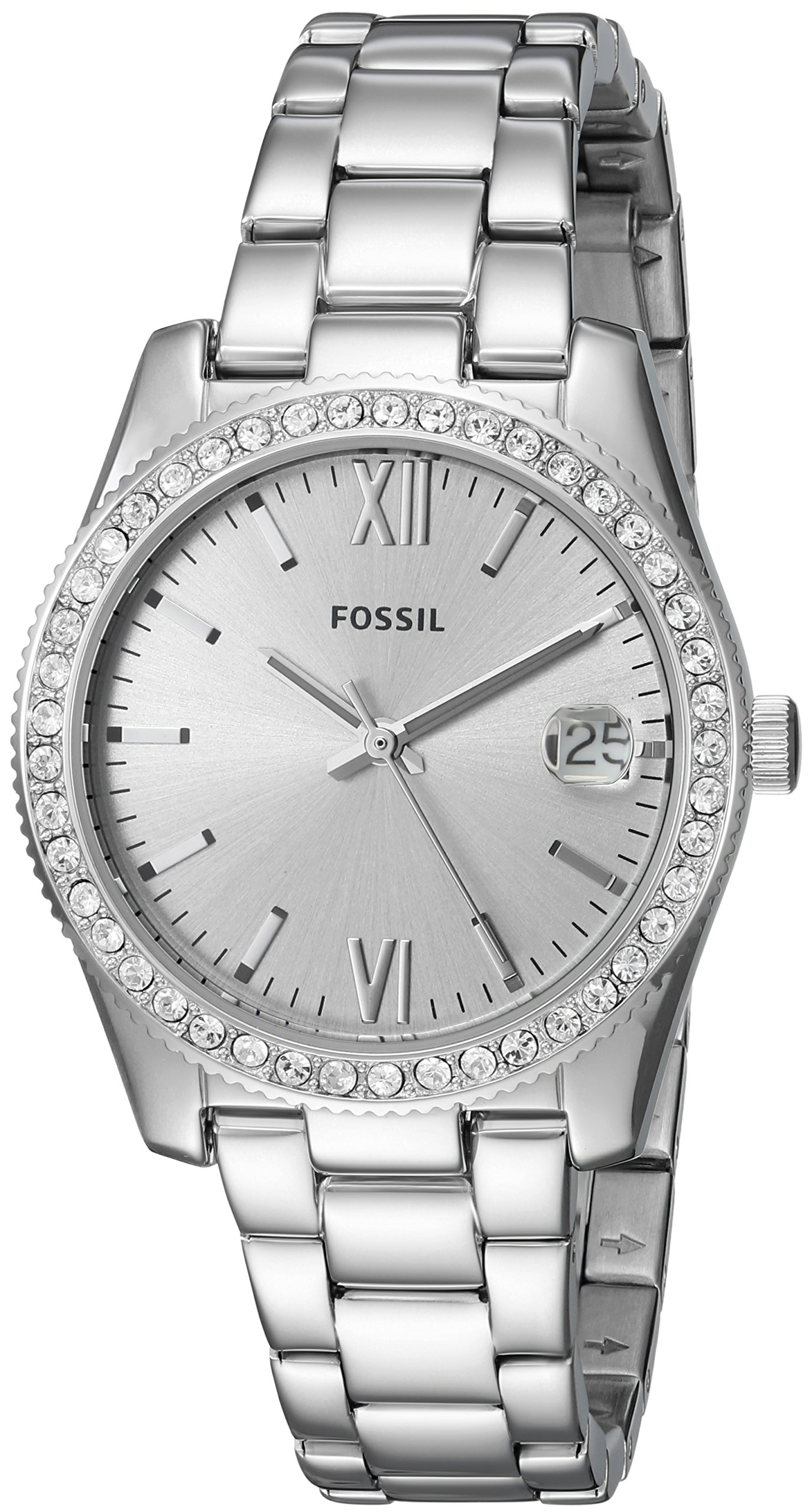 Fossil Women's 'Scarlette' Quartz Stainless Steel Casual Watch, Color:Silver-Toned (Model: ES4317)