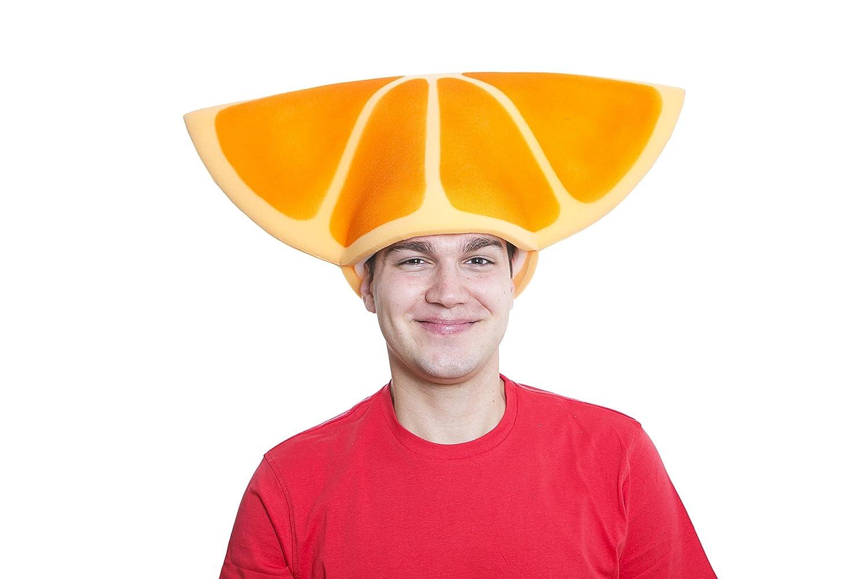 Sombrero de gomaespuma gajo de naranja