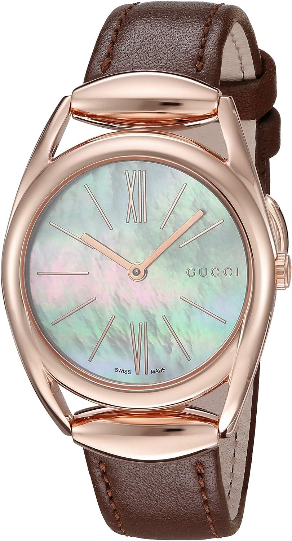 Gucci Reloj Análogo clásico para Mujer de Cuarzo con Correa en Ninguno YA140507
