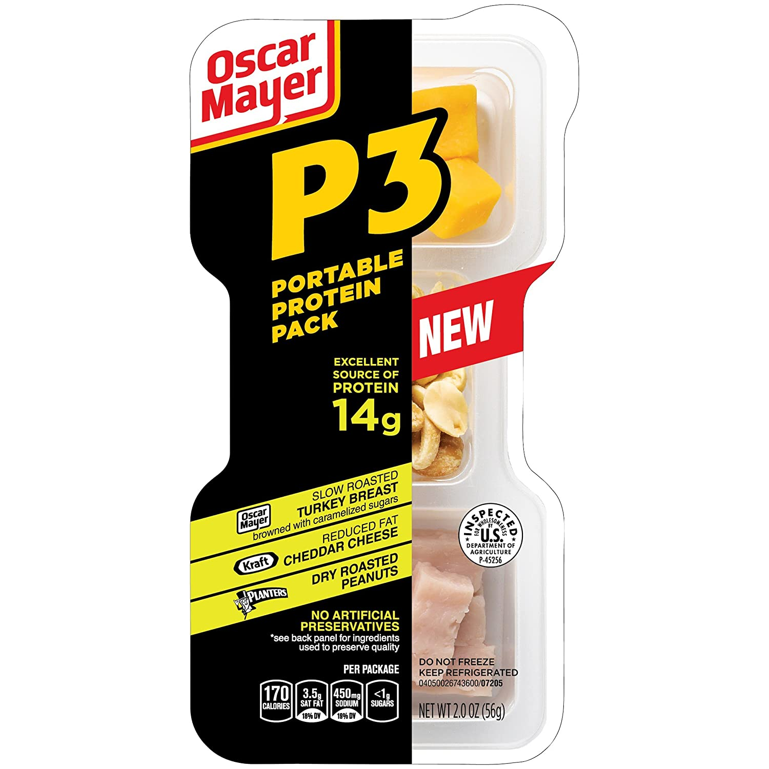 P3 Portable Protein Pack 2OZ (Pack of 10)