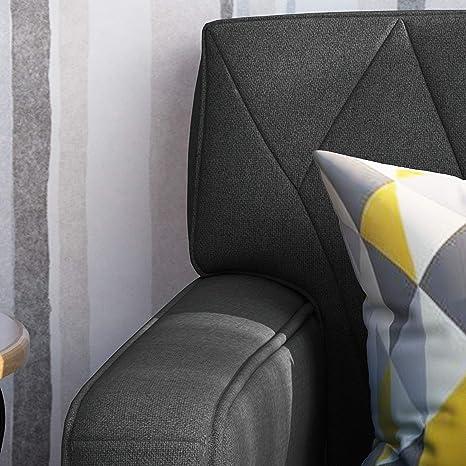 Amazon.com: Melantha - Sillón de tela con botones, color ...