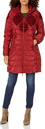 Desigual Women's Padded Long Overcoat
