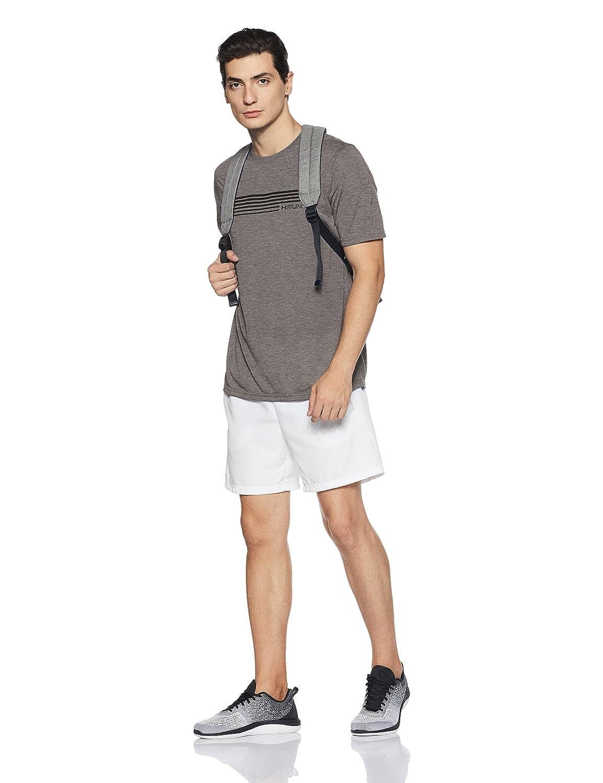 Under Armor Mens Run Graphic Shorts Sleeve T-Shirt