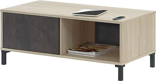 Habitdesign 0X1641F - Mesa de Centro Fija, Modelo Brooklyn, Roble ...