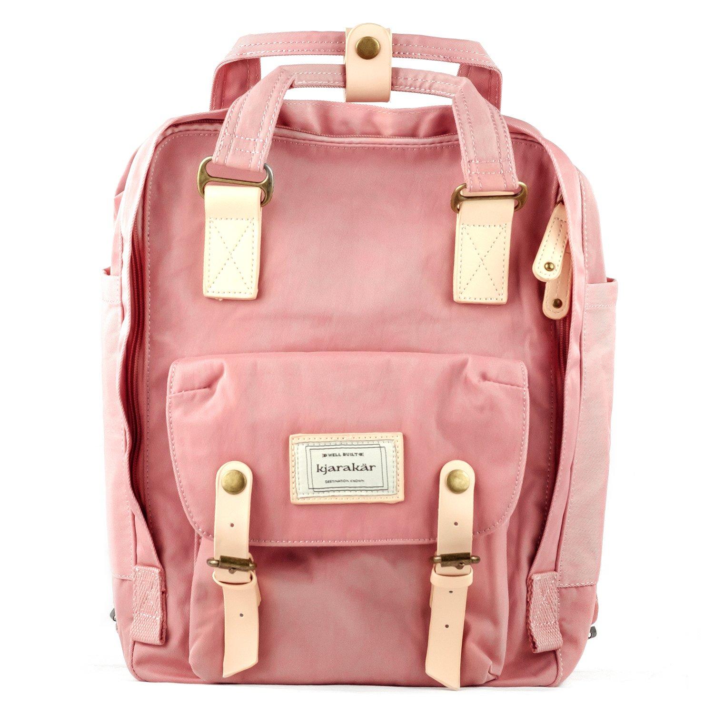 ed309137a8e8 Amazon.com   Kjarakar (Pink) Vintage School Laptop Travel Commuter Backpack    Sports   Outdoors