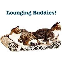 Gluckluz Cat Scratcher Pad Bed Sofa Lounge Cushion Kitten Scratching Post Couch Cat Scratch Pet Furniture Self Groomer Perch
