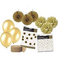 Unique Party 63838 63838-gouden feestversieringskit, goud, 1 stuks