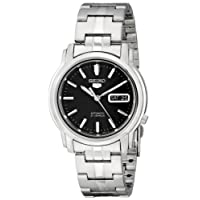 Seiko Men's SNKK71 Seiko 5 Automatic Stainless Steel Watch with Black Dial