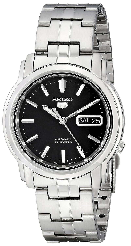 Seiko5 Reloj Analógico para Hombre de Cuarzo con Correa en Acero Inoxidable SNKK71: Seiko: Amazon.es: Relojes
