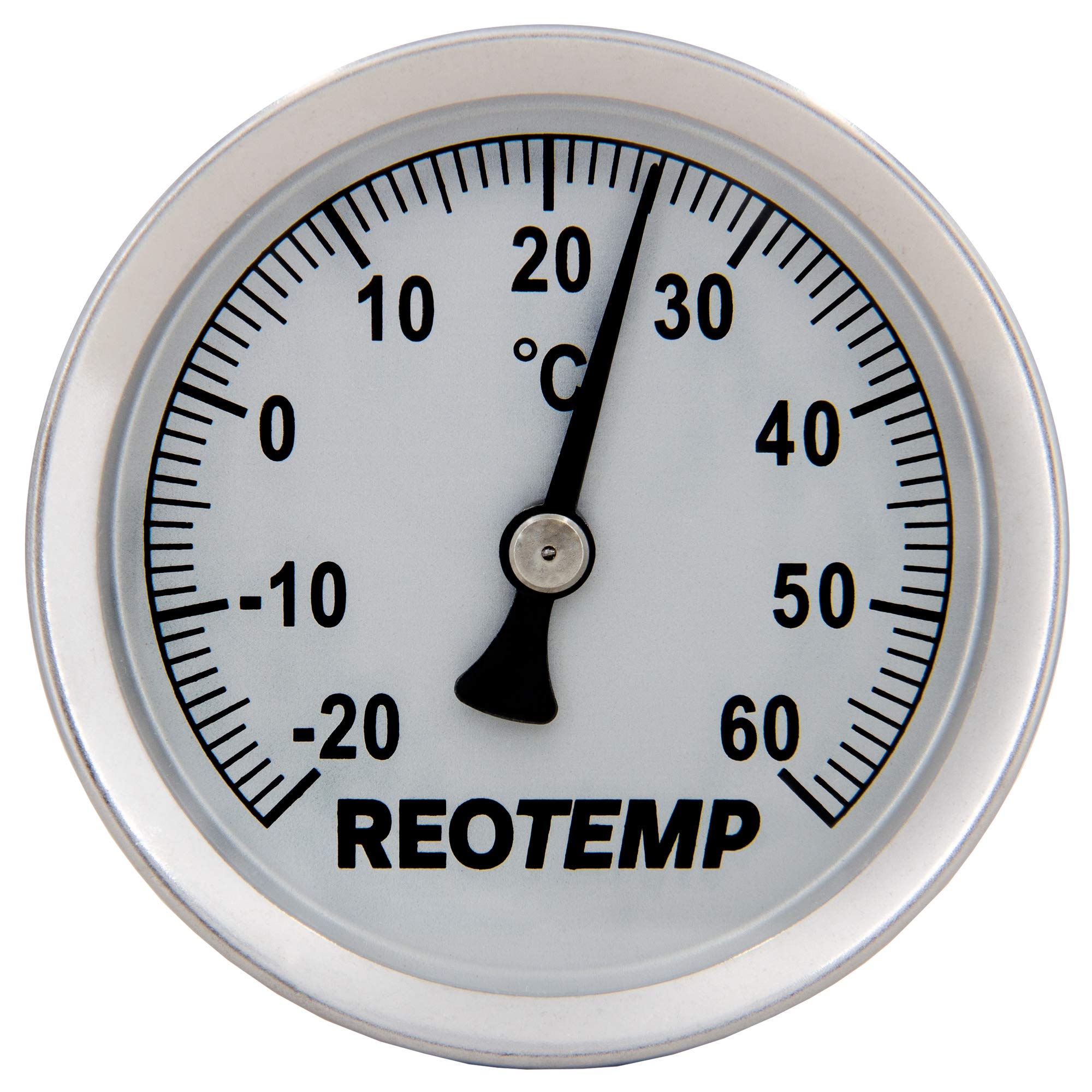 REOTEMP S1-C32 Magnetic Analog Surface Thermometer, -20 to 60 Celsius