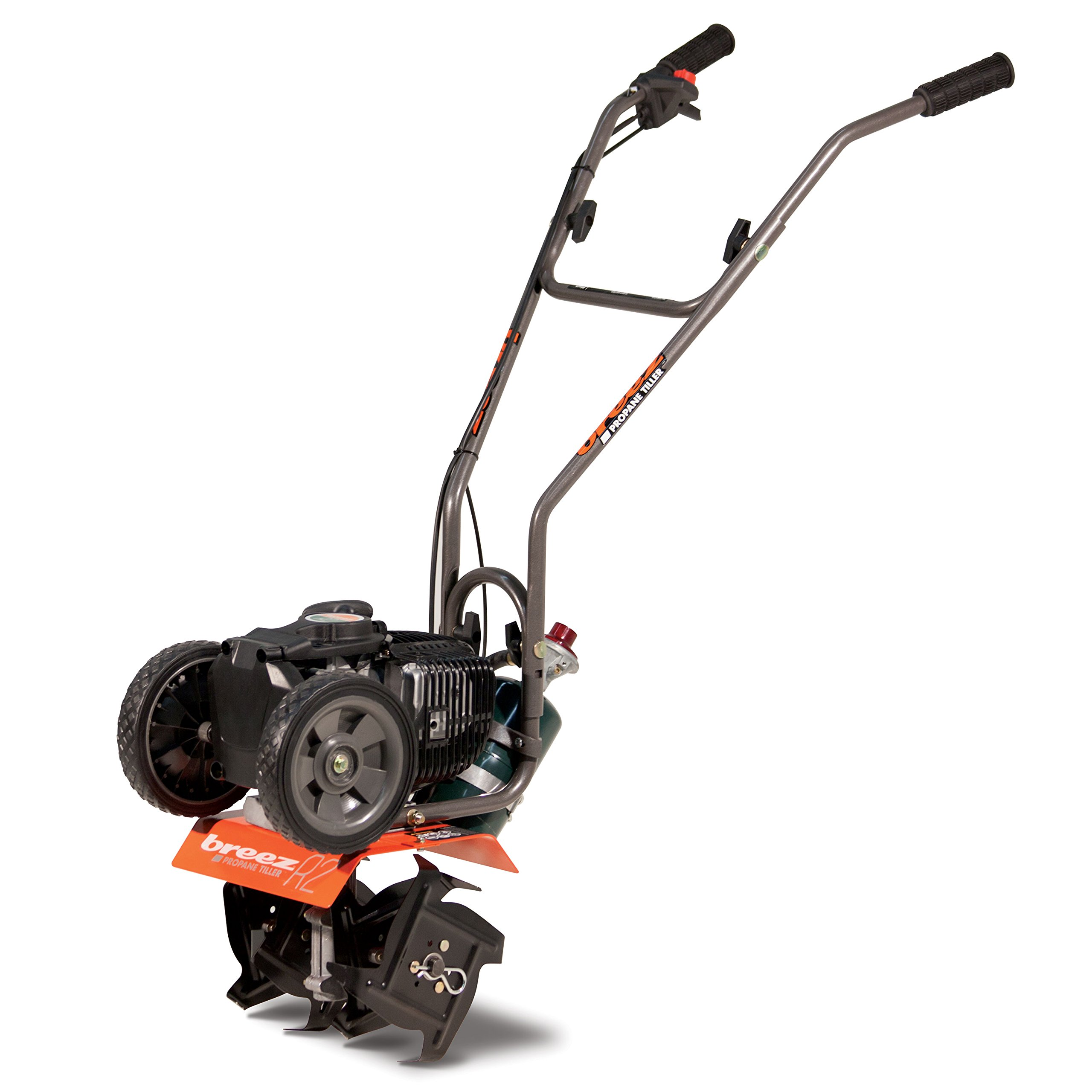 Breez 21046 R2 Propane Tiller Cultivator - 40cc 4-Cycle Engine, (CARB Compliant) by Breez