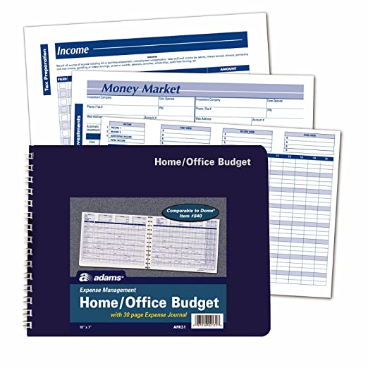Amazon.com : Adams Home Office Budget Book, Weekly/Monthly Format ...