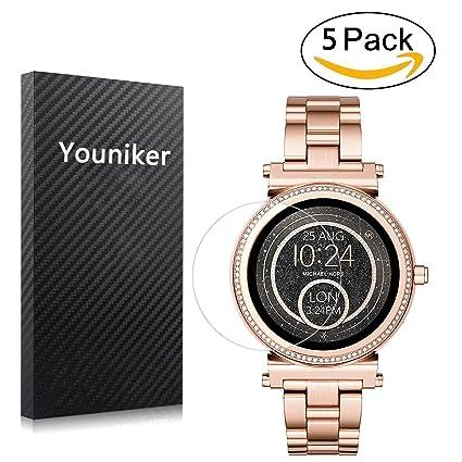 Youniker 5 Unidades Protector de Pantalla para Michael Kors Access Sofie HD Claro Suave Protector No Vidrio Alta Definicion