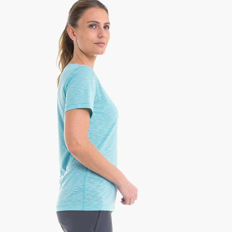 Schnelltrocknendes Shirt Mit H/öchstem Sch/öffel Damen T Verviers2 Elastisches Und Atmungsaktives Funktionsshirt