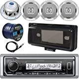 Amazon jensen ms30bt compact bluetooth marine stereo msx65r kenwood kmr m322bt in dash marine boat audio bluetooth usb receiver waterproof protective sciox Choice Image