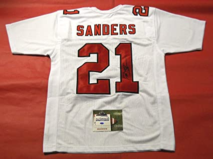 premium selection 5f9be db48a DEION SANDERS AUTOGRAPHED ATLANTA FALCONS THROWBACK JERSEY ...