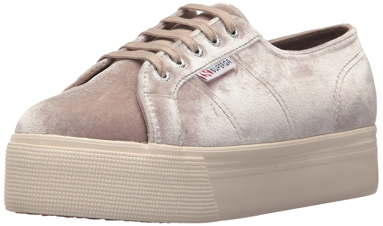 Superga Women's 2790 Velvetjpw Sneaker B073H9N924 36 M EU (6 US)|Grey Velvet