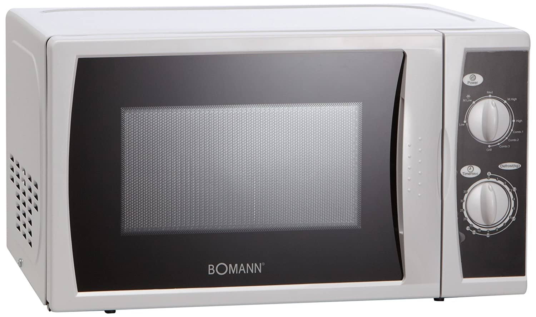 Bomann MWG 2227 CB, 1050 W, 230 V, 50 Hz, Negro, Blanco, 440 x 340 ...