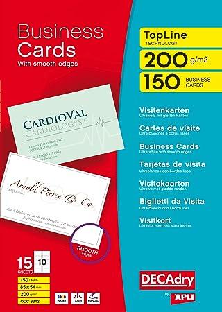 Decadry topline business cards straight white ref occ3342 pack decadry topline business cards straight white ref occ3342 pack 150 reheart Choice Image