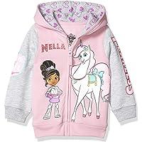 Nickelodeon Baby Girls' Toddler Nella The Princess Knight Zip-Up Hoodie
