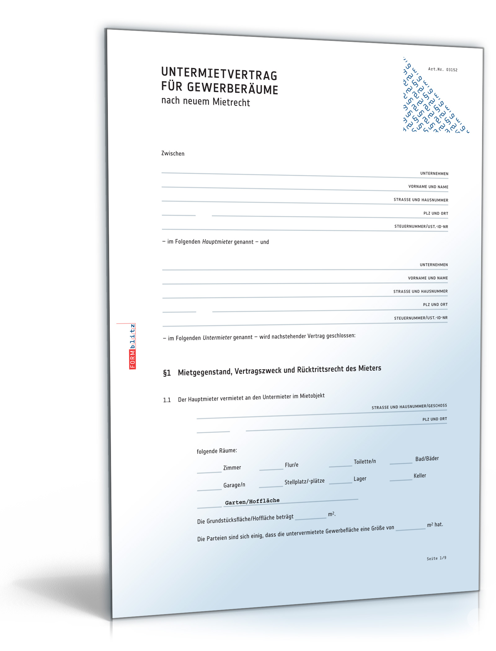 Untermietvertrag Gewerberäume Pdf Download Amazonde Software