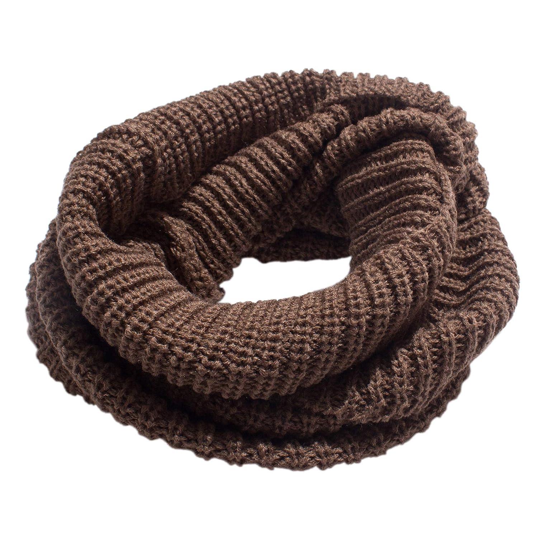 Moda Unisex Bufandas Tejidas Cuello Caliente 2 C/írculo Color s/ólido Bufanda Chal
