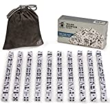 Yellow Mountain Imports Ultimate 6 Sided Dice Set Consisting of 100 White Dice with Right Angle Corners and Black Dots