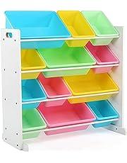 Tot Tutors Toy Organizer Storage Bins, Pastel
